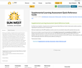 Supplemental Learning Assessment Quick Reference Guide
