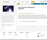 How to Extend Your Welding Life Expectancy