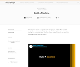 Teach Design : Build a Machine