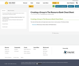 Creating a Group in The Resource Bank Cheat Sheet