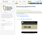DLC ELA5: Unit 2 - Bibliographies for Books