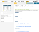 SECRET Skills SHEA Conference Presentation