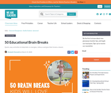 50 Educational Brain Breaks that Your Students Will Love!
