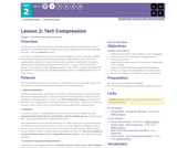 CS Principles 2019-2020 2.2: Text Compression