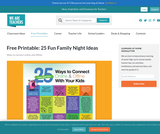 Family Night Ideas! (Connecting with your kids!)