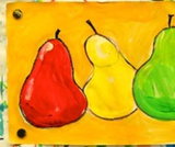 Painted Pears Still Life