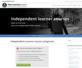 Independent Learner Courses