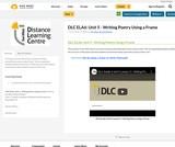 DLC ELA6: Unit 5 - Writing Poetry Using a Frame