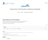 Governor General's Literary Awards - Past Winners and Finalists