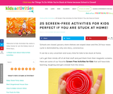 25 Screen-Free Activities for Kids