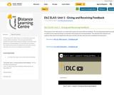 DLC ELA5: Unit 1 - Giving and Receiving Feedback