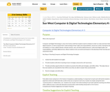 Computer & Digital Technologies Guidebook - K-5 (Elementary) Sun West