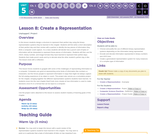 CS Discoveries 2019-2020: Data and Society Lesson 5.8: Create a Representation