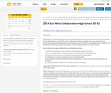 2019 Sun West Collaboration High School 10-12