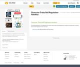 Character Traits/Self Regulation Handout