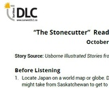"""""""The Stonecutter"""" Read Aloud: Listening Guide"""