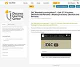 DLC Blended Learning Math 7 - Unit 3.7: Fractions, Decimals and Percents - Relating Fractions, Decimals and Percents