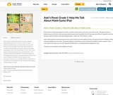 Askî's Pond: Grade 1 Help Me Talk About Math Game iPad