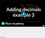 Arithmetic Operations: Adding Decimals Example 3