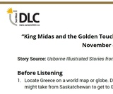 """King Midas and the Golden Touch"" Read Aloud Listening Guide"