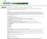 Adjusting Your Water Heater to Conserve Energy