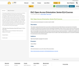 DLC Open Access Orientation: Senior ELA Courses