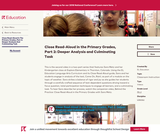 Close Read-Aloud in the Primary Grades, Part 2: Deeper Analysis and Culminating Task