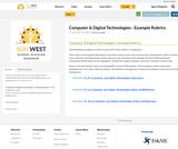 Computer & Digital Technologies - Example Rubrics