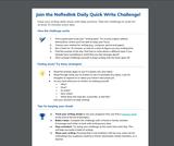 NoRedInk - Daily Quick Write Challenge