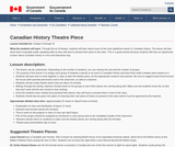Canadian History Theatre Piece