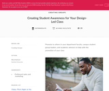 Teach Design: Creating Student Awareness for Your Design-Led Class