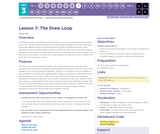 CS Discoveries 2019-2020: Interactive Animations and Games Lesson 3.7: The Draw Loop