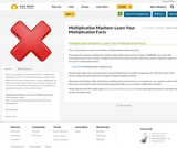 Multiplication Mayhem: Learn Your Multiplication Facts