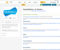 Using Mathletics - for Teachers