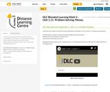 DLC Blended Learning Math 2 - Unit 1.11- Problem Solving, Money