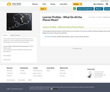 Learner Profiles - What Do All the Pieces Mean?