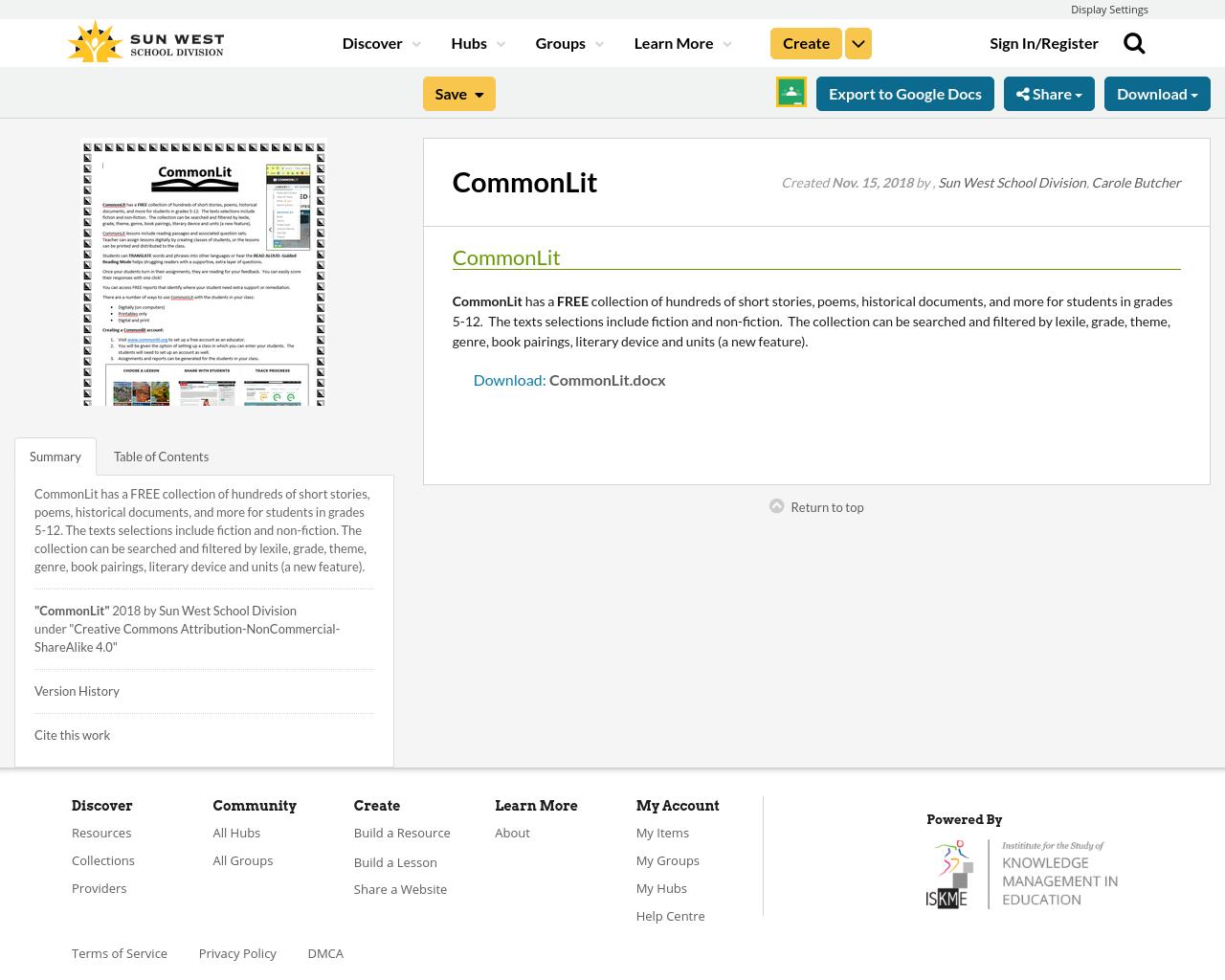 CommonLit | Resource Bank