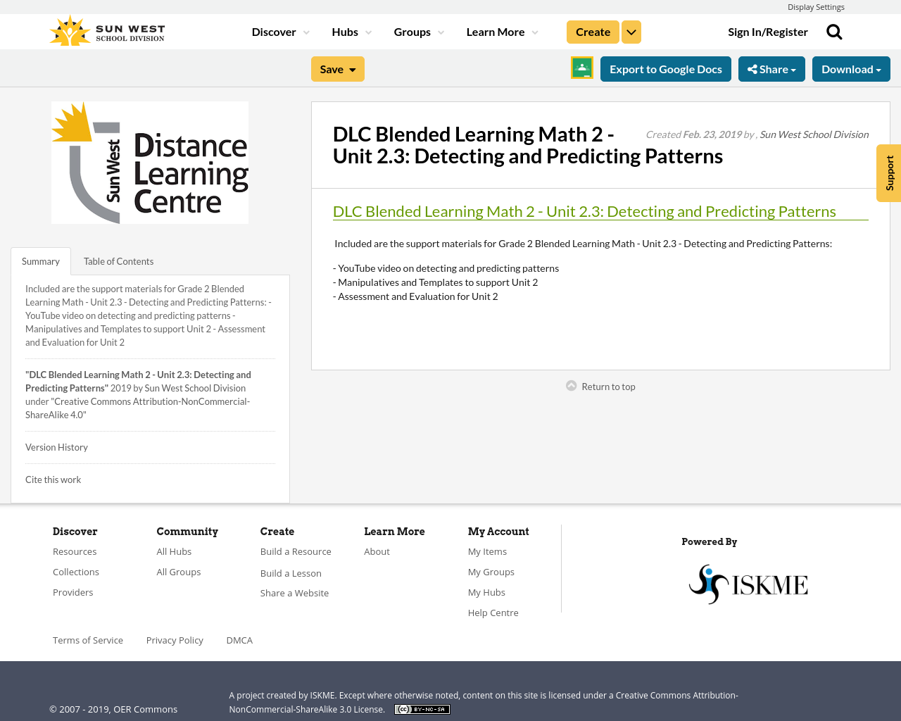 Dlc Blended Learning Math 2 Unit 2 3 Detecting And Predicting