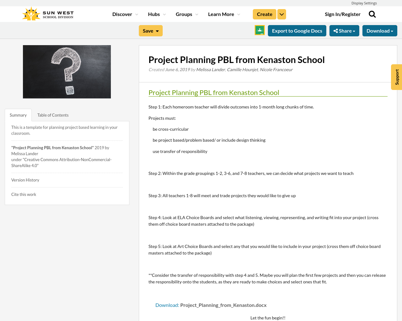 project planning pbl from kenaston school resource bank. Black Bedroom Furniture Sets. Home Design Ideas