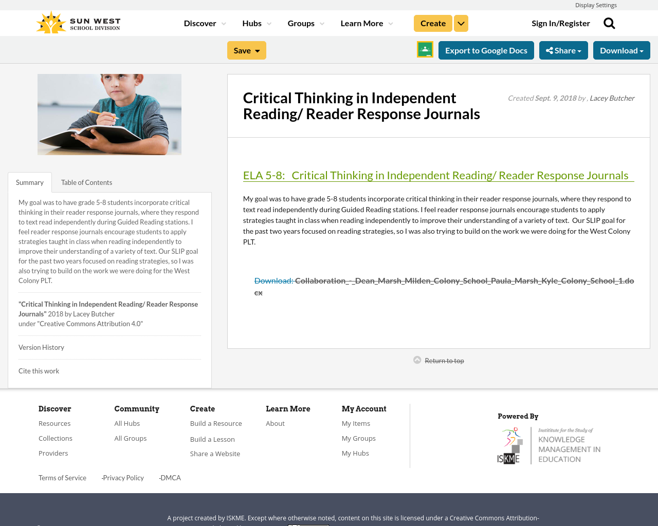 critical thinking journals