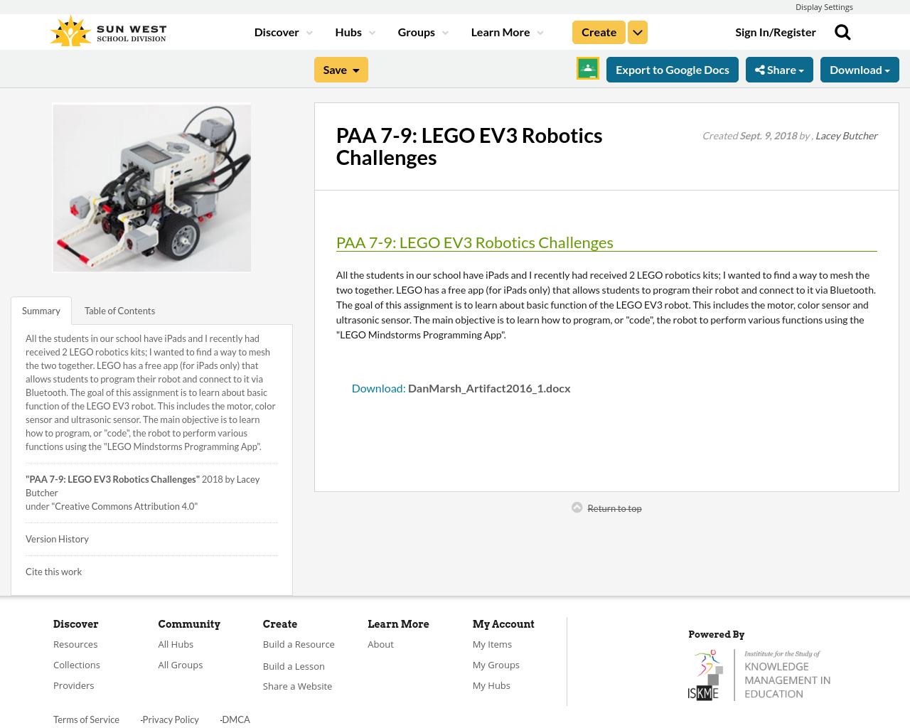 PAA 7-9: LEGO EV3 Robotics Challenges | Resource Bank