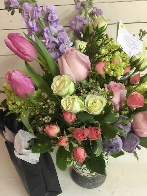 A 5 Star Customer Reviewed Flower Arrangement Designed by Rathbone's Flair Flowers of Tulsa in Jenks, OK