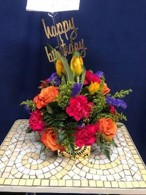 A 3 Star Customer Reviewed Flower Arrangement Designed by Salvy the Florist in Lynn, MA