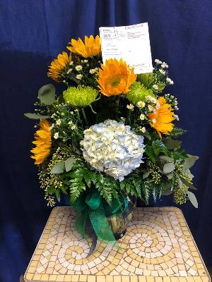 A 2 Star Customer Reviewed Flower Arrangement Designed by Salvy the Florist in Lynn, MA
