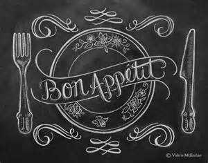 bon appetit chalk board