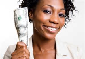 woman cash