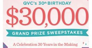 QVC 30th Birthday Celebration Sweepstakes | ShareYourFreebies