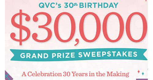 QVC 30th Birthday Celebration Sweepstakes   ShareYourFreebies