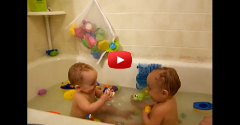 The-twins-lose-it-in-the-tub!
