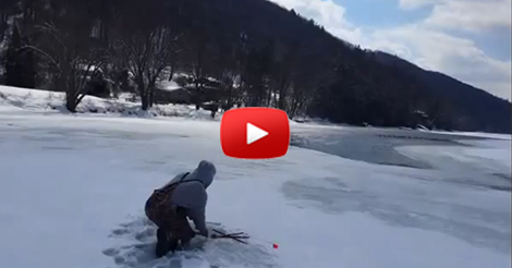 Shocking ice fishing video from pennsylvania for Pa ice fishing